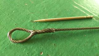 ミニチュアロープ加工